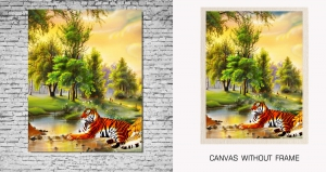 Mesleep Canvas painting without frame-Tiger pc-13-39