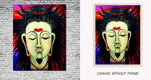 Mesleep Canvas painting without frame-Lord Shiva pc-13-5
