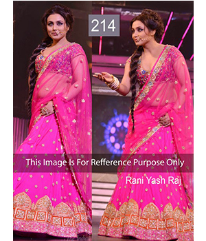 Bollywood Replica Rani Mukerji Net Lehenga In Pink Colour - 214
