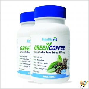 Healthvit Green Coffee Bean Extract 800 mg 60 capsulesPack Of 2 WC123408