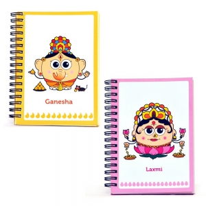 Goddess Laxmi And Lord Ganesh Unique Inspirational Notebooks Combo Gift DL4COMB413