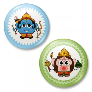 Lord Ram And Lord Hanuman Pefect Match Fridge Toy Magnet Combo Gift DL4COMB420
