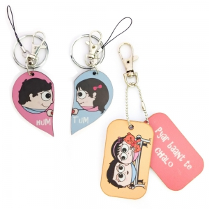 Cute 3 in 1 Designer Keychain And Exclusive Love Bite Dangler Combo Set DL4COMB449