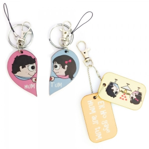 Cute 3 in 1 Designer Keychain And Exclusive Love Bite Dangler Combo Set DL4COMB450