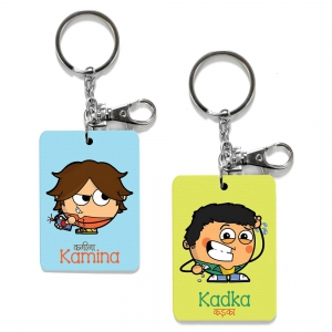 Exclusive Kamina And Kadka Dost Funky Friends Key Chains Combo Gift DL4COMB472