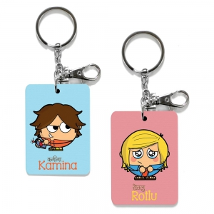 Exclusive Kamina And Rotlu Dost Funky Friends Key Chains Combo Gift DL4COMB475