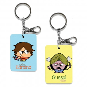 Exclusive Kamina And Gussel Dost Funky Friends Keychains Combo Gift DL4COMB478