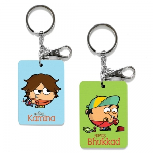 Exclusive Kamina And Bhukkad Dost Cute Friends Keychains Combo Gift DL4COMB480