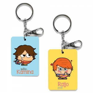 Exclusive Kamina And Rajjo Dost Funky Friends Key Chains Combo Gift DL4COMB481