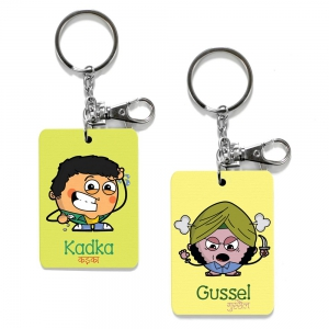 Exclusive Kadka And Gussel Dost Funky Printed Friends Key Chains Combo DL4COMB488