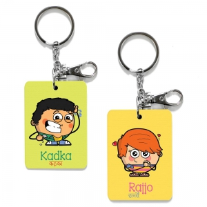 Exclusive Kadka And Rajjo Dost Unique Printed Friends Key Chains Combo DL4COMB491