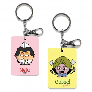 Exclusive Neta And Gussel Dost Funky Print Friends Key Chains Combo DL4COMB497