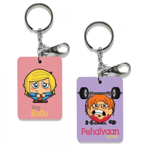 Exclusive Rotlu And Pehalvan Dost Print Cute Friends Keychains Combo DL4COMB502