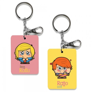 Exclusive Rotlu And Rajjo Dost Special Print Friends Keychains Combo DL4COMB507