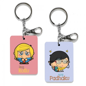 Exclusive Rotlu And Padhaku Dost Funky Print Friends Keychains Combo DL4COMB508