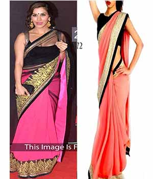 Pack Of 2 Arisha Georgette Embroidered Saree  Pink And Pink Comboa55