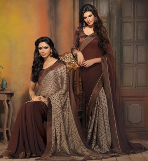 Riti Riwaz Pink and Purple saree with unstitched blouse FSF20023