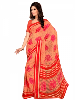 Varanga Prange Georgette Foil Designer saree with unstitched blouse KFKRS1154