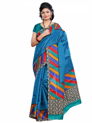 Riti Riwaz Khadi Silk casual saree with unstitched blouse PNS3005