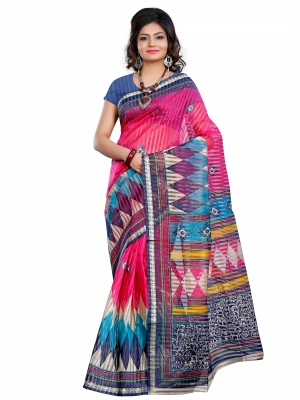 Riti Riwaz Viscose casual saree with unstitched blouse PNS3014