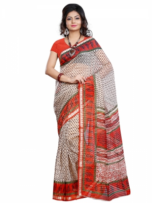 Riti Riwaz Viscose casual saree with unstitched blouse PNS3016