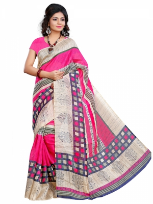 Riti Riwaz Chapa Silk casual saree with unstitched blouse SVR2002