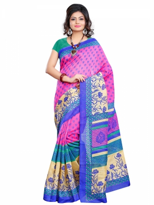 Riti Riwaz Chapa Silk casual saree with unstitched blouse SVR2006
