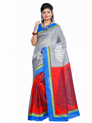 Riti Riwaz Chapa Silk casual saree with unstitched blouse SVR2008