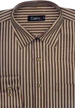 Cairon Brown Stripe Executive Formal Shirt Sf-B4168_A