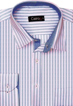 Cairon Pink Herringbone Stripe Executive Formal Shirt Sf-B4267_A
