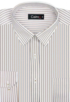 Cairon Khaki Stripe Executive Formal Shirt Sf-B4309_C