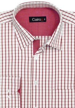 Cairon Maroon Check Executive Formal Shirt Sf-B4317_B