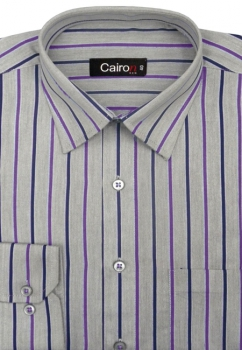 Cairon Purple Stripe Executive Formal Shirt Sf-B4321_A