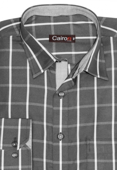 Cairon Black Check Executive Formal Shirt Sf-B4324_A