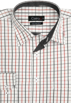 Cairon Red Check Executive Formal Shirt Sf-B4330_B