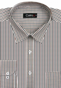 Cairon Brown Check Executive Formal Shirt Sf-B4350_B