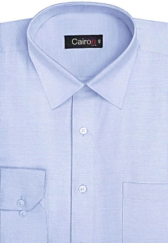 Cairon Sky Blue Solid Executive Formal Shirt Sf-B4351_D