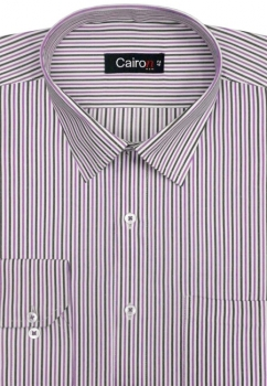 Cairon Purple Stripe Executive Formal Shirt Sf-B4359_B