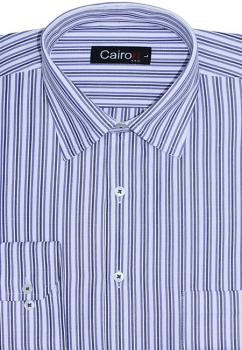 Cairon Blue Stripe Executive Formal Shirt Sf-B4360_A