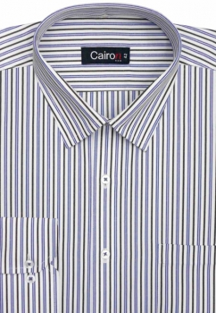 Cairon Blue Stripe Executive Formal Shirt Sf-B4362_A