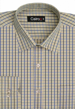Cairon Lemon Check Executive Formal Shirt Sf-B4373_E