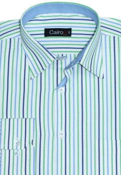 Cairon Blue Stripe Executive Formal Shirt Sf-B4380_B