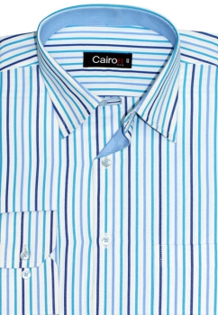 Cairon Navy Blue Stripe Executive Formal Shirt Sf-B4380_C