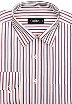 Cairon Red Stripe Executive Formal Shirt Sf-B4382_A