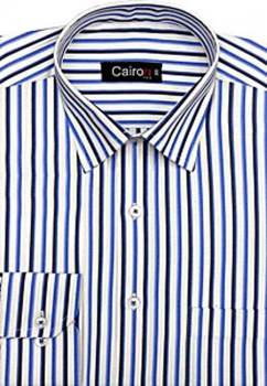 Cairon Blue Stripe Executive Formal Shirt Sf-B4382_B