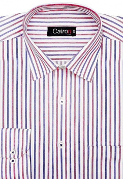 Cairon Red Dobby Stripe Executive Formal Shirt Sf-B4392_B