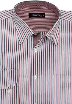 Cairon Red Stripe Executive Formal Shirt Sf-B4394_C