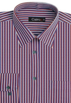 Cairon Red Satin Stripe Executive Formal Shirt Sf-B4404_A
