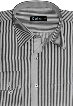 Cairon Black Stripe Smart Formal Shirt Sf-B4419_A