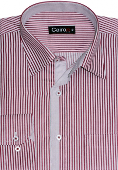 Cairon Maroon Stripe Smart Formal Shirt Sf-B4419_B